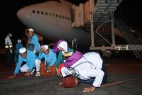 Kloter Pertama Jamaah Haji Debarkasi Surabaya Tiba Di Tanah Air
