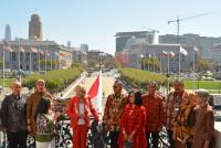 Bendera Indonesia berkibar di Balai Kota San Fancisco