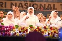 Wakil Walikota Kediri, dampingi Gubernur Jatim, Peringati Hari Santri