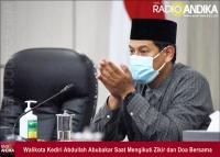 Walikota Kediri Ikuti Zikir dan Doa Kebangsaan 76 Tahun Indonesia Merdeka Secara Virtual
