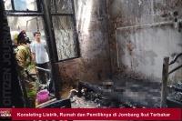 Konsleting Listrik, Rumah dan Pemiliknya di Jombang Ikut Terbakar
