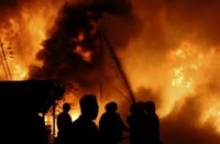 Rumah terbakar, seorang pedagang asal Dusun Jatirejo Kecamatan Banyakan rugi puluhan juta rupiah.