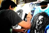 Seni Air Brush Di Kaos, Kreatifitas Dalam Usaha