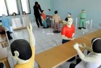 AMANKAN PEMILIHAN BUPATI POLRES KEDIRI KERAHKAN 735 PERSONIL SEMENTARA TIAP CALON MENDAPATKAN PENGAWALAN DUA PERSONIL