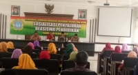 Disdik Kabupaten Kediri Sosialisasi Penyaluran Bea Siswa Pendidikan pada GNOTA