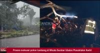 Hujan Lebat, 3 Warung di Wisata Sumber Ubalan Plosoklaten Tertimpa Pohon