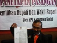 KPUD Tetapkan Dua Paslon Pilkada Kabupaten Kediri