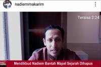 Mendikbud Nadiem Bantah Mapel Sejarah Dihapus
