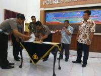 Polres Kediri Kota MOU Dengan Pengadilan Dan Kejaksaan Terkait e-tilang