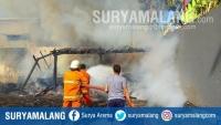 Akibat Korsleting Listrik, Rumah di Lamongan Ini Ludes Terbakar
