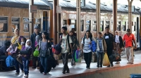 puncak arus balik 2015, PT KAI Daops 7 Madiun Jawa Timur mencatat ada sekitar 20 ribu penumpang yang melakukan perjalanan balik ke Jakarta