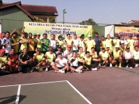 Paguyuban Tenis Lapangan Kediri Raya diselenggarakan di halaman tenis lapangan Polres Kediri.