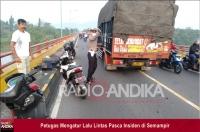 Truk vs Motor di Semampir Kediri, Satu Korban Luka-luka