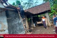 Puting Beliung, Terjang Atap Rumah Warga Kepung Kediri