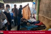 Diduga Serangan Jantung, Lansia Meninggal Dunia saat Beli Buah di Pasar Mojokerto
