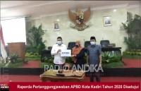DPRD Kota Kediri, Setujui Raperda Pertanggungjawaban APBD Tahun Anggaran 2020