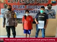 Menipu Tetangga Sendiri, Penjual Minyak Goreng di Jombang Diamankan Polisi